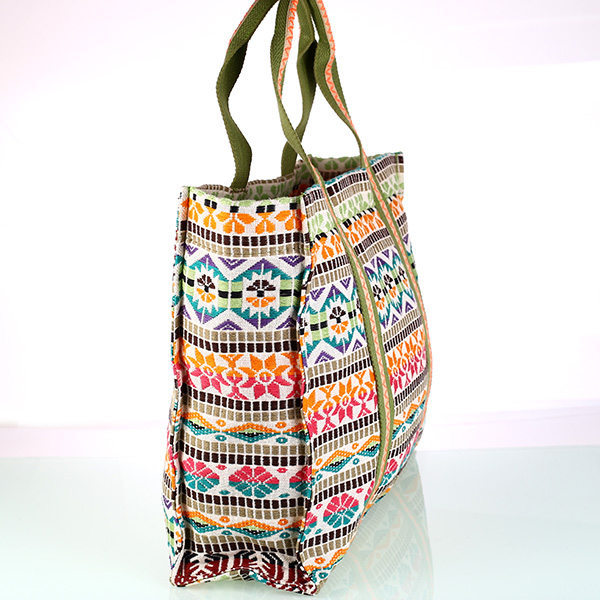 bolso playera lona estampada lateral