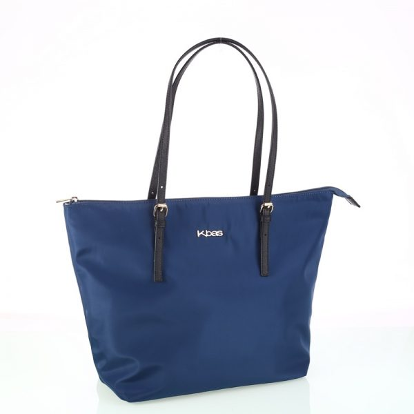 shopper nylon azul