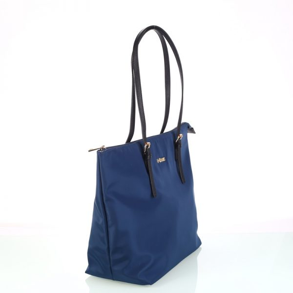 shopper nylon azul lateral