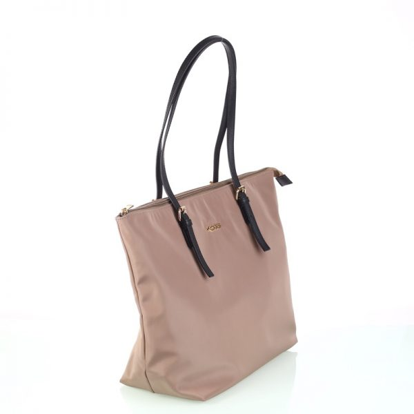shopper nylon beig lateral