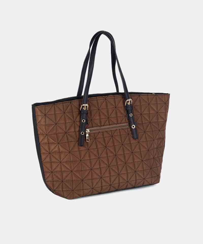 Bolso shopper nylon cobre invierno
