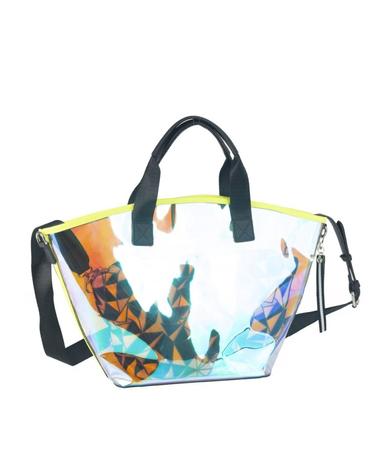 New now shopper transparente amarillo