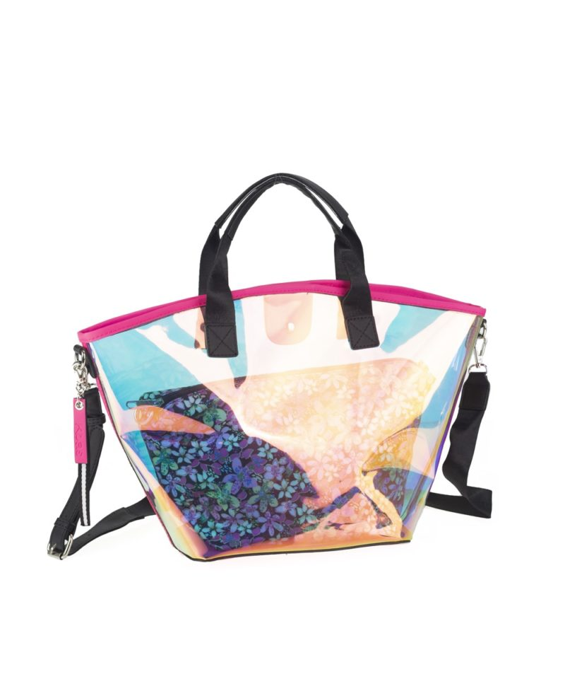 New now shopper transparente fucsia