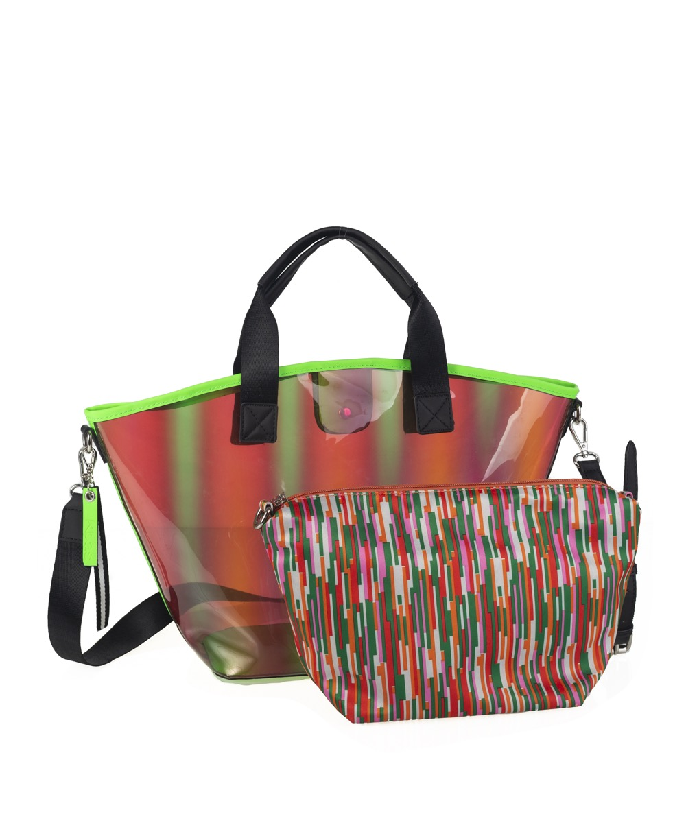 New now shopper transparente verde