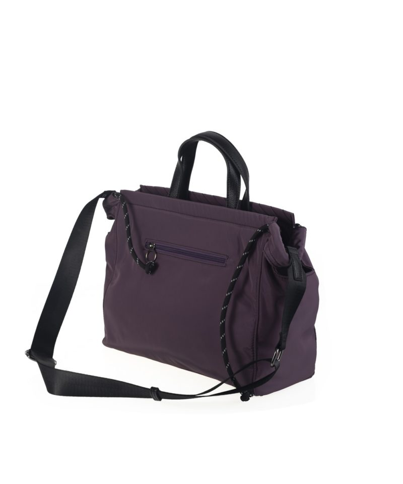 Shopper nylon lila lateral