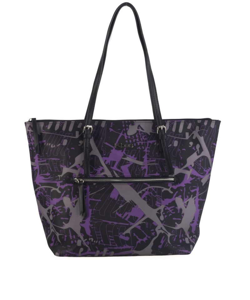Bolso shopper nylon morado