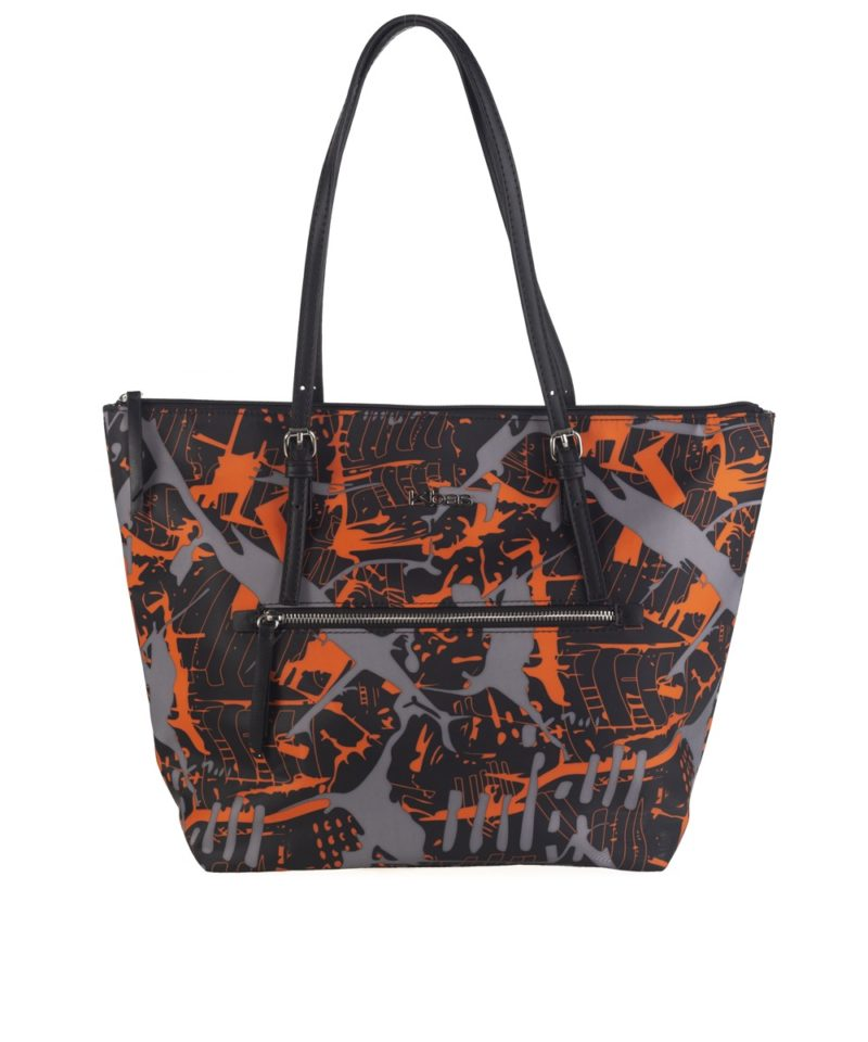 Bolso shopper nylon naranja b